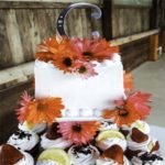 Cupcake Cake with flowers and fruit
