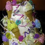 Cardinal's Ice Cream Cone Birthday  Cake